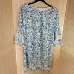 Skies are Blue 3/4 sleeve shift dress. Size medium